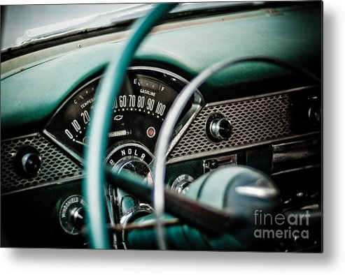 Car Metal Print featuring the photograph Classic Interior by Jt PhotoDesign