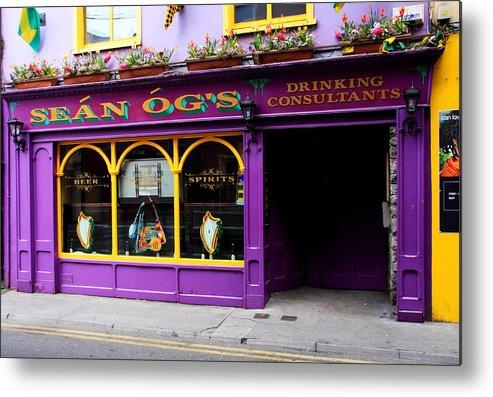 Ireland Metal Print featuring the photograph Colorful Irish Pub by Aidan Moran