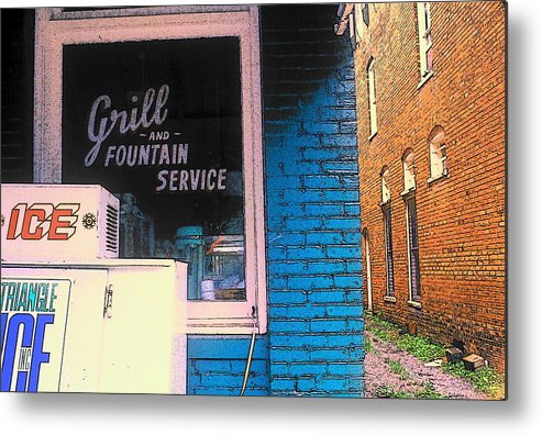 Fine Art Metal Print featuring the photograph Corner Of Store by Rodney Lee Williams