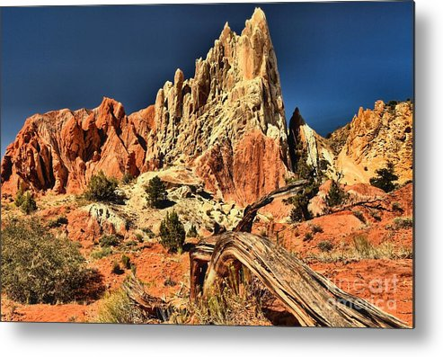 Cottonwood Road Metal Print featuring the photograph Cottonwood Narrows Side Show by Adam Jewell