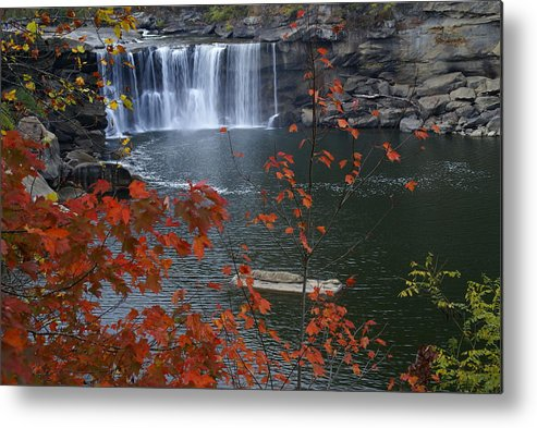 Cumberland Falls Metal Print featuring the photograph Cumberland Falls by Bj Hodges
