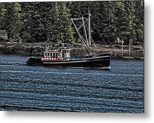 Wooden Boat Metal Print featuring the photograph Deryl E by Timothy Latta
