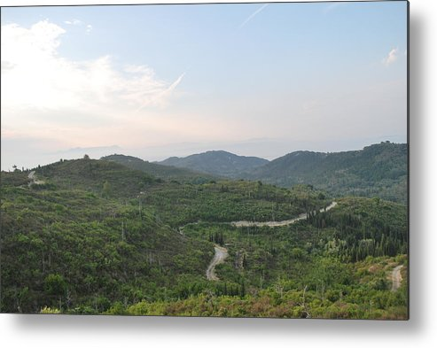 Landscape Metal Print featuring the photograph Dirt Roads 3 by George Katechis