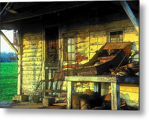 Fine Art Metal Print featuring the photograph Discarded by Rodney Lee Williams