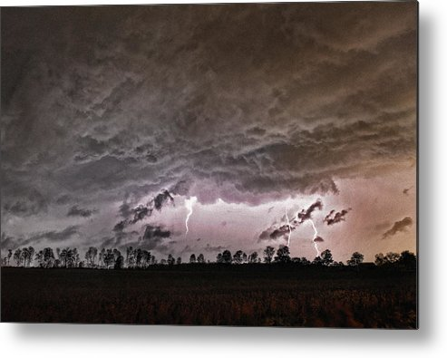 Storm Metal Print featuring the photograph Electrodynamics by Terry Hrynyk