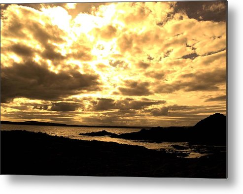 Seascape Metal Print featuring the photograph Evening Sky by Ann Fogarty