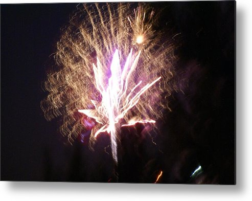 Fairy Fireworks Metal Print featuring the photograph Fairies In The Fireworks I by Jacqueline Russell