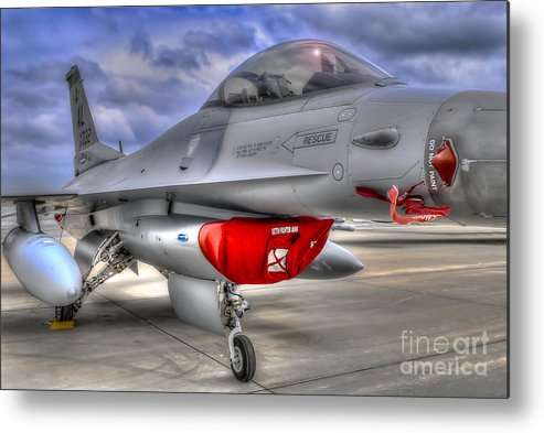 Ken Metal Print featuring the photograph Fighting Falcon by Ken Johnson