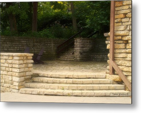 Flagstone Metal Print featuring the photograph Flagstone Patio by Thomas Woolworth