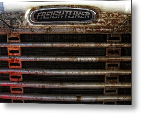 Freightliner Metal Print featuring the photograph Freightliner Highway King by Daniel Hagerman