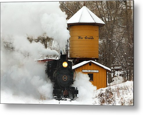 Colorado Railroad Museum Metal Print featuring the photograph Full Steam Ahead by Ken Smith