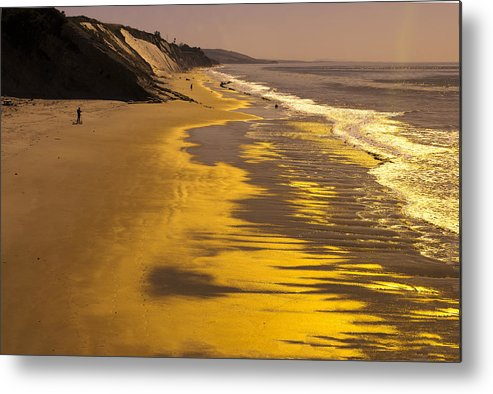 Mountains Metal Print featuring the photograph Golden Beach Sunrise by Bryan Shane