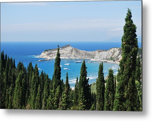 Seascape Metal Print featuring the photograph Green And Blue 1 by George Katechis