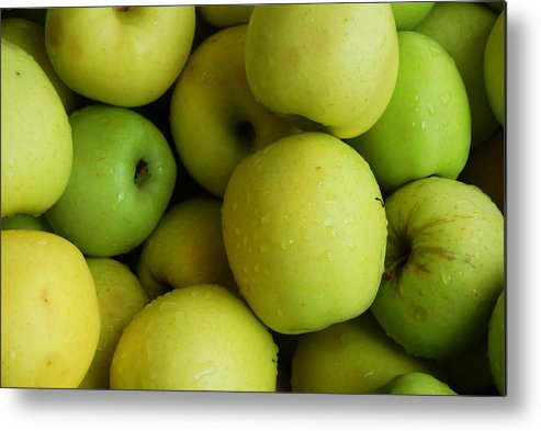 Green Apples Metal Print featuring the photograph Green Apples by Mamie Gunning