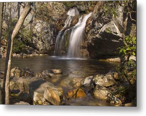 Waterfall Metal Print featuring the photograph High Falls Talledega National Forest Alabama by Charles Beeler
