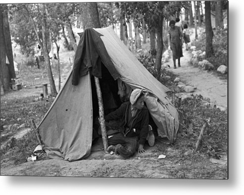 1937 Metal Print featuring the photograph Homeless Boy, 1937 by Granger