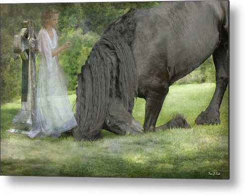 Horses Metal Print featuring the photograph I Miss You by Fran J Scott
