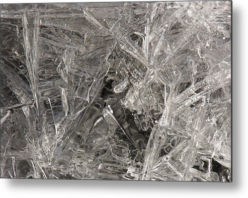 Ice Metal Print featuring the photograph Ice Macro 4 by Clifford Pugliese