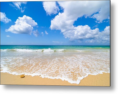 Beach Metal Print featuring the photograph Idyllic Summer Beach Algarve Portugal by Amanda Elwell