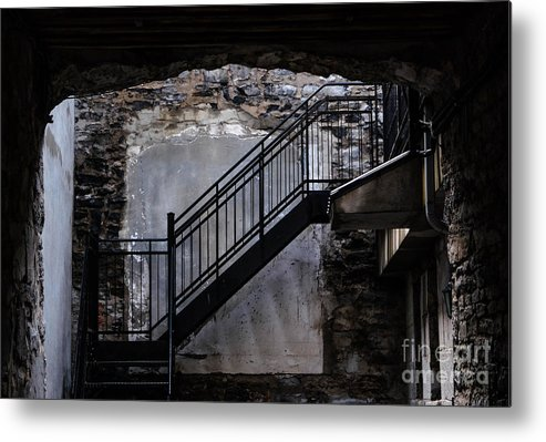 Montreal Metal Print featuring the photograph Into The Alley - Old Montreal by Amy Fearn