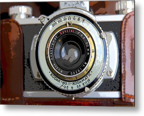 Vintage Metal Print featuring the photograph Kodak Fun by Joanne Riske