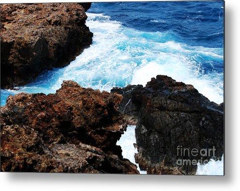 Aruba Metal Print featuring the photograph Lava Rock On Aruban Coast by DejaVu Designs