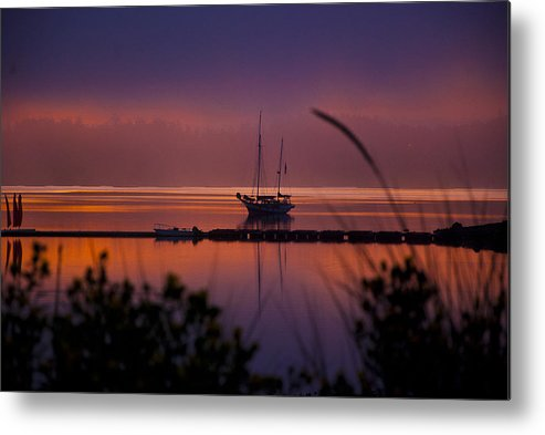 Penn Cove Metal Print featuring the photograph Lifting Morning Fog by Ron Roberts