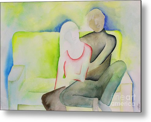 Intimacy Metal Print featuring the painting Sofa by Shannan Peters