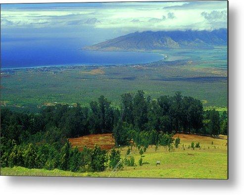 Hawaii Metal Print featuring the photograph Maui Hawaii Upcountry View by John Burk