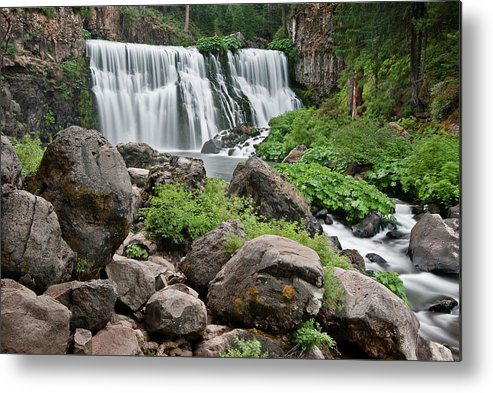 Cascades Metal Print featuring the photograph Mccloud Falls by Greg Nyquist