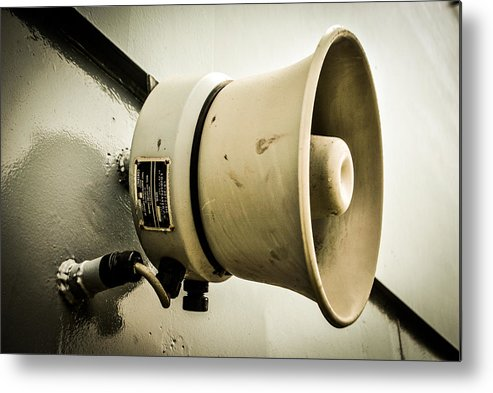 Megaphone Metal Print featuring the photograph Megaphone by AR Harrington Photography