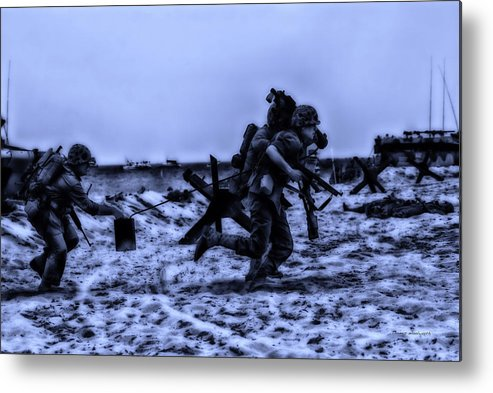 Surrealist Metal Print featuring the photograph Midnight Battle Stay Close by Thomas Woolworth