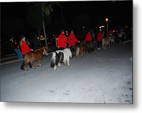 Edison Parade Of Lights Metal Print featuring the photograph Miniature Ponys by Robert Floyd