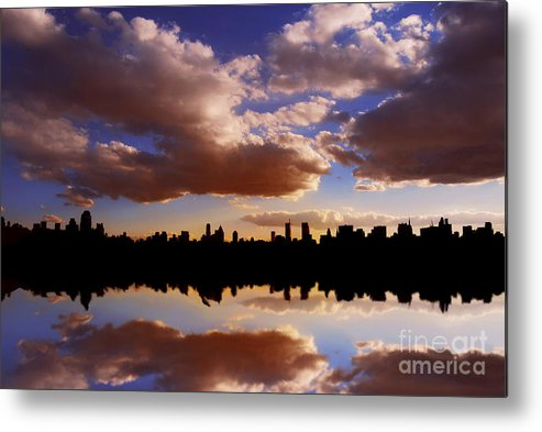 New York City Metal Print featuring the photograph Morning At The Reservoir New York City Usa by Sabine Jacobs