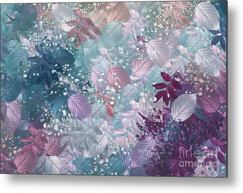 Abstract Digital Art Metal Print featuring the digital art Naturaleaves - S1002b by Variance Collections