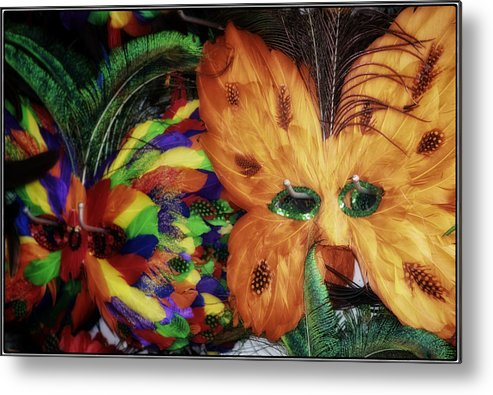 New Orleans Metal Print featuring the photograph New Masks by Joan Carroll
