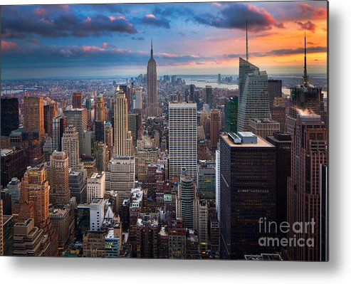 America Metal Print featuring the photograph New York New York by Inge Johnsson
