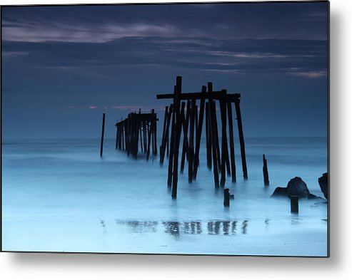 Ocean City Metal Print featuring the photograph Ocean City Pier by Bonnie Rovere