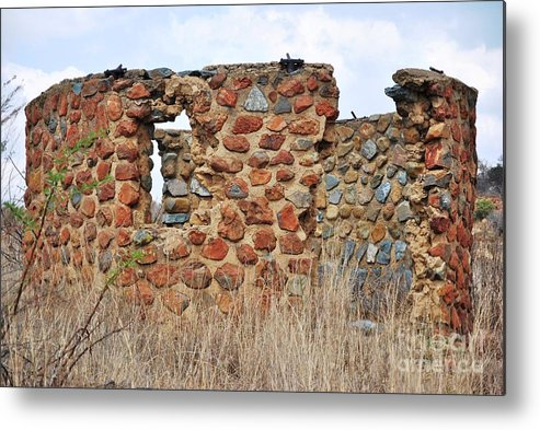 Old Ruin Abandoned Metal Print featuring the photograph Old Ruin Abandoned by Herman Cloete