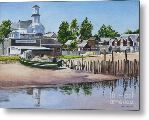 Church Metal Print featuring the painting P' Town Boat Works by Karol Wyckoff