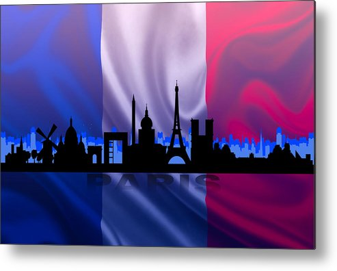 Architecture Metal Print featuring the digital art Paris City by Don Kuing