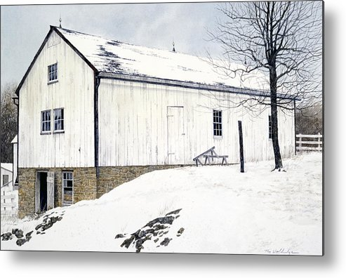 Landscape Metal Print featuring the painting Pennsylvania Dutch by Tom Wooldridge