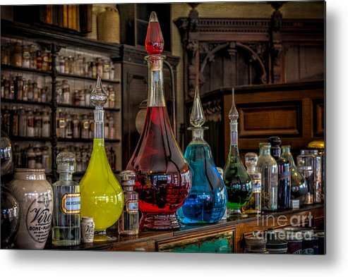 Medicine Metal Print featuring the photograph Pick An Elixir by Adrian Evans