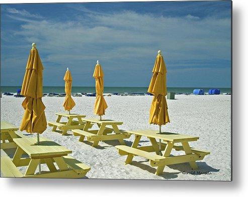 Beach Metal Print featuring the photograph Picnic At The Beach by Gerald Marella