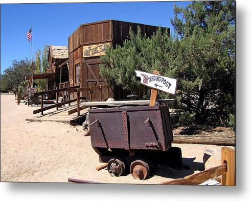 Mining Car Metal Print featuring the photograph Pioneer Town Califoronia by Jay Milo