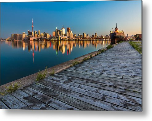 Boards Metal Print featuring the photograph Polson Street Pier by James Wheeler