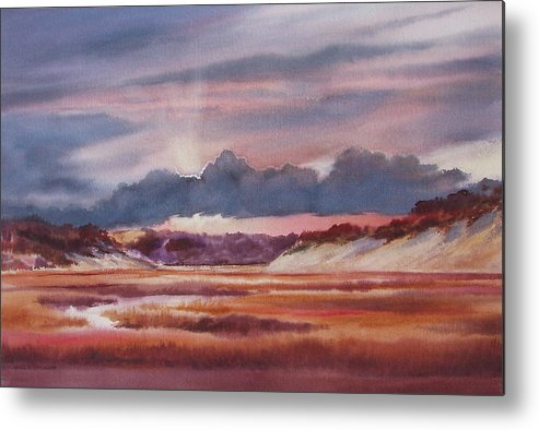 Dramatic Metal Print featuring the painting Provincelands by Karol Wyckoff