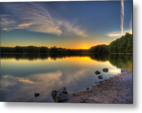 Sunset Metal Print featuring the photograph Quiet Reflection by Megan Noble