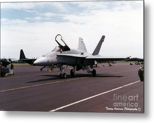 Mcdonnell Douglas F/a-18 Hornet Metal Print featuring the photograph Rcaf F-18 by Tommy Anderson