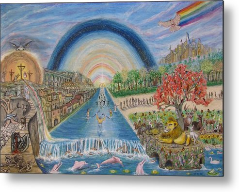 Christian Metal Print featuring the mixed media River Of Life by Neal David Reilly